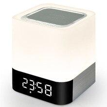 Ihens5 Portable Sans Fil Bluetooth Haut-Parleur et LED Lumière Lampe D'alarme Horloge avec une Qualité Sonore MP3 Lecteur Micro TF Carte SD AUX USB