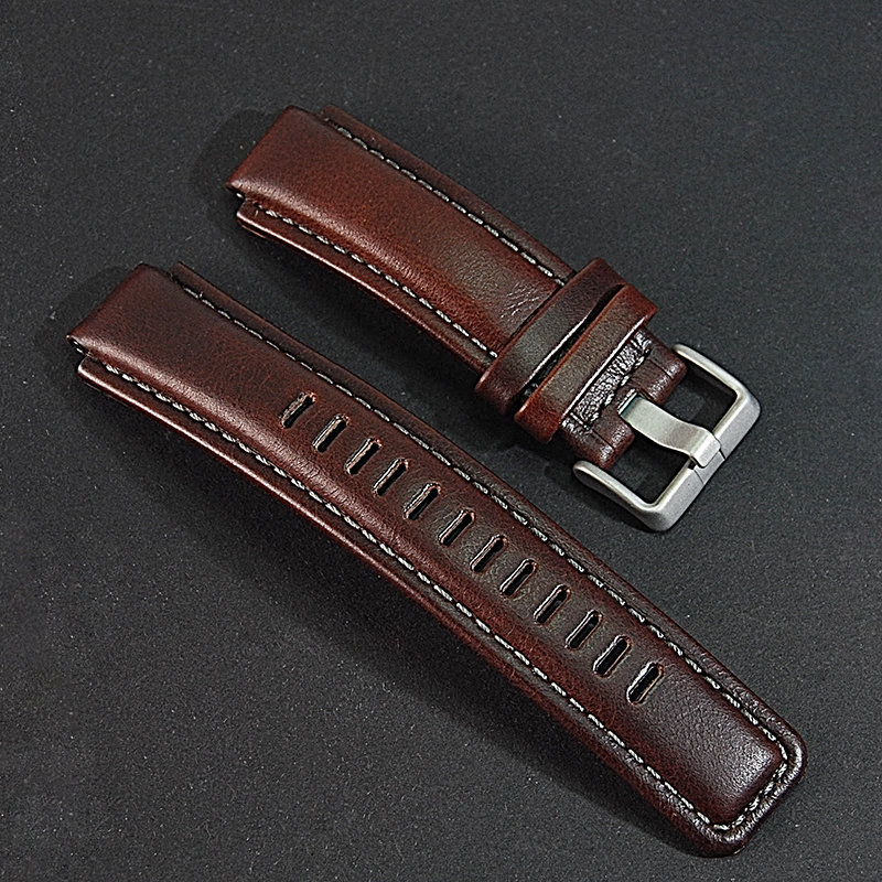 Genuine Leather Watch band Watch Strap.Replacement for Timex T45601,T2N721 E-tide Compass Watches Мотоцикл
