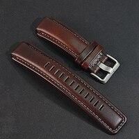 02bf61c89993 Correa de reloj de cuero genuino. reemplazo para relojes de brújula Timex  T45601