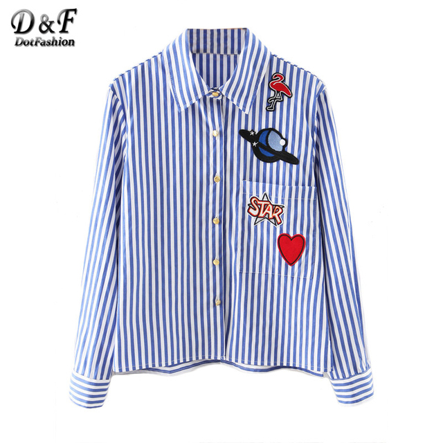 Aliexpress.com : Buy Dotfashion 2016 Newest Blue and White Lapel ...