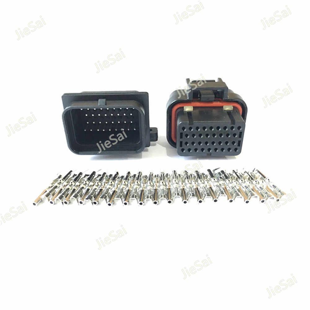 34 Pin 4-1437290-0หญิงและชายTyco AMPอัตโนมัติน้ำมันก๊าซเชื่อมต่อ