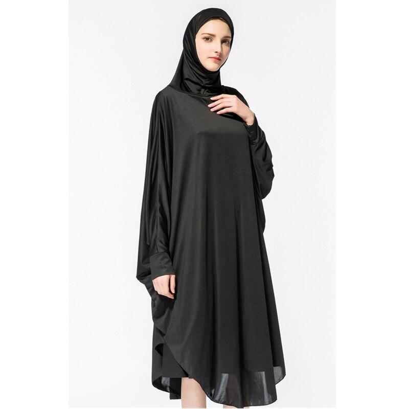 Muslim Workship Jacket Hot Fashion Bat Sleeve With Hood Abaya Pray Dress  Robes Musulman Dresses Vestidos New  D483-in Islamic Clothing from Novelty  ... 0c4b0b81b