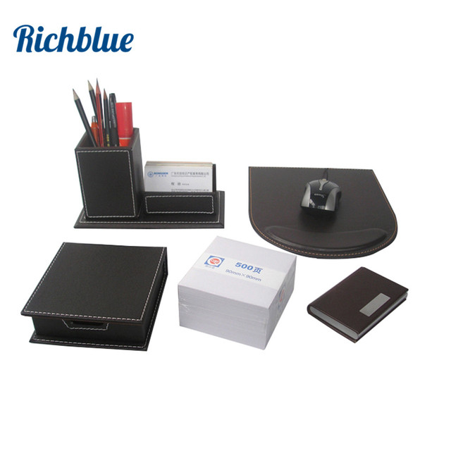 Desktop Stationery Organizer Set With Pen Holder Mouse Pad Business