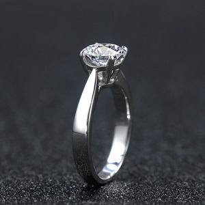 Image 2 - NiceGems Classsic Moissanite סוליטייר אירוסין טבעת מרכז 1ct 2ct 3ct 4ct F צבע 14K זהב לבן Moissanite טבעת עבור נשים
