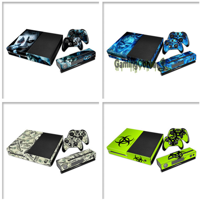 eXtremeRate Decal Skin Sticker Protector Set for Xbox One Console Controller Kinect -