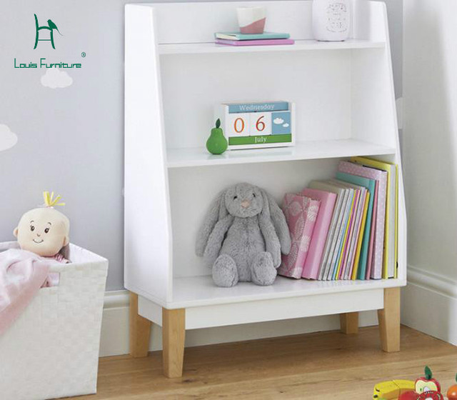 Louis Fashion Childrens Bookcases Baby Bookshelf Storage Rack Simple
