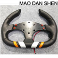 2015 hot new Universal Car Racing Steering Wheel PU Leather Sport F1 JDM Auto high quality