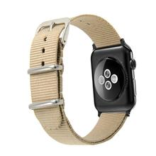 Eastar Woven Nylon Band Watchband For Apple Watch 3 42mm 38mm fabric-like strap iwatch 3/2/1 wrist band nylon watchband belt(China)