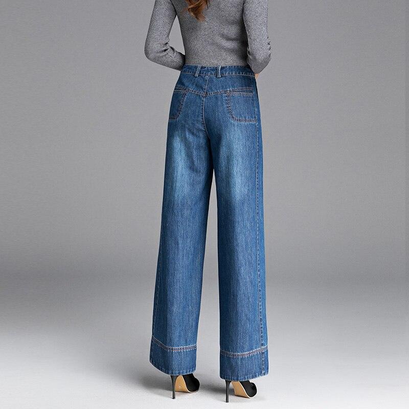 Donna Donne Casual Larghi Sciolto Piedino Delle In Del Feamle Dei Jeans Alta Lavato Pantaloni A Primavera I Sottile Autunno Denim Vita qT05AZxwnt