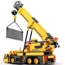 2016 Новый КАЗИ Города Крановые Блоки 380 шт. DIY Строительного Кирпича Рождественские Подарки Игрушки Совместимость Legoe Город техника