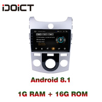 IDOICT Android 8.1 Car DVD Player GPS Navigation Multimedia For KIA Forte Cerato Radio 2007 2017 car stereo bluetooth