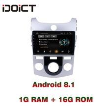 IDOICT Android 8,1 dvd-плеер автомобиля gps навигации мультимедиа для KIA Forte Cerato радио 2007-2017 стерео bluetooth