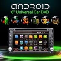 2 DIN Android 6.0 dvd-gps-навигация автомобилей стерео радио автомобильный gps 3 г Wi-Fi Bluetooth USB/SD Универсальный проигрыватель