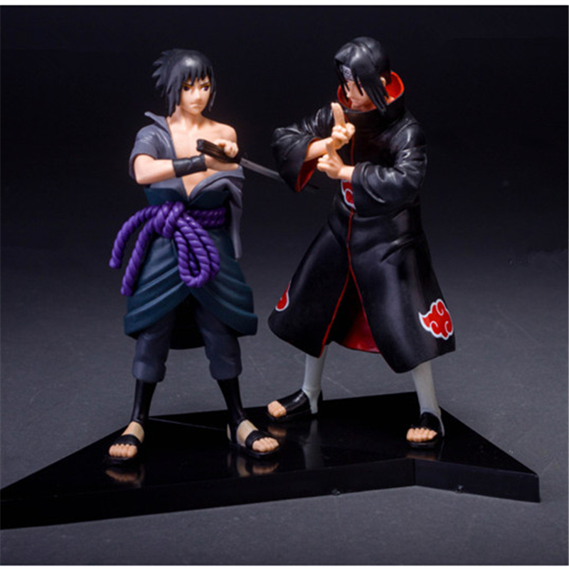 1pc/lot Japan Anime Naruto Action Figure Toys 2 Styles UCHIHA Itachi/Sasuke Toys PVC Collections Figures Toys Gifts 16cm pu short wallet w colorful printing of naruto shippuden uchiha itachi
