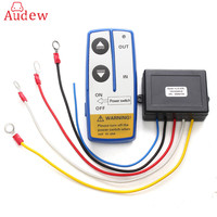 12V 50ft Wireless Auto Winch Remote Control Receiver Kit For Jeep ATV SUV Truck Switch Handset