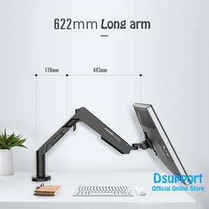 """Image 4 - Loctek A8 quick installation Desktop Stand 17"""" 36"""" Monitor Holder Full Motion LED LCD Computer Mount Arm Max.Loading 12kgs"""