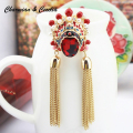 Novel Design Chinese Traditional Opera Artistes Fashion Dual Purpose Pedant/ Brooch For Women