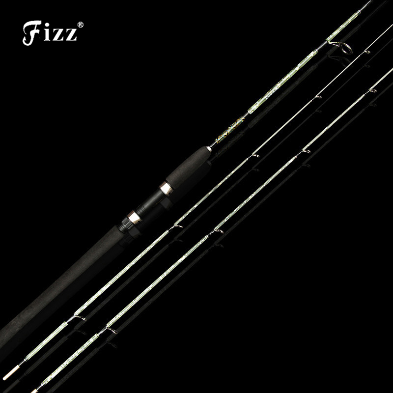 1+2 Tips Lure Fishing Rod 2 Section Spinning Rod Glass Fiber Fishing Pole Fishing Tackle 8-15LB Line Weight 1.35/1.5/1.8/2.1M