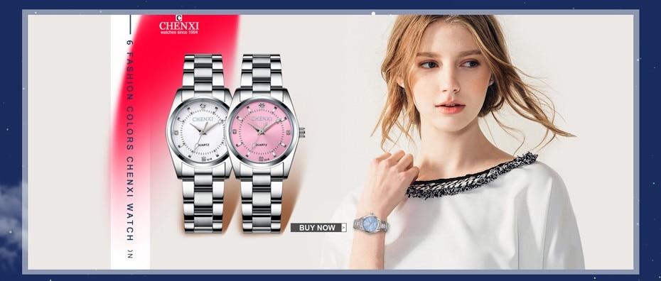 CHENXI Brand Top Luxury Ladies Gold Watch Women Golden Clock Female Women Dress Rhinestone Quartz Waterproof Watches Feminine 2