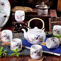 ホット販売景徳鎮セラミック茶パステルティーポットカンフー茶カップ大容量バケットの茶セットギフトセット送料無料