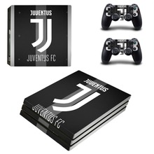 Juventus Football Team PS4 Pro Skin Sticker Decal Vinyl for Playstation 4 Console and 2 Controllers PS4 Pro Skin Sticker