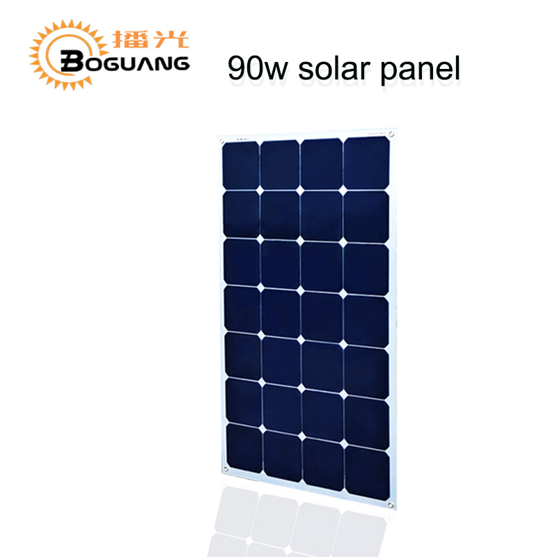 BOGUANG 16V 90W solar panel quality cell Aluminum board for home system car RV boat yacht 12V battery charger 1kw 10 x 100w 12v solar panel pv solar module for rv boat home battery charge