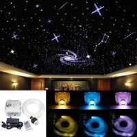 32W RGB 4 speed LED Fiber Optic Starry Sky ceiling kit light 550 strands(0.75+1+2+3mm) 2M Optical Fiber+28Key Remote
