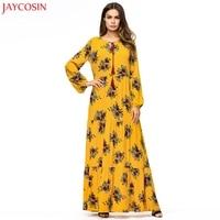 JAYCOSIN Women National Robe Abaya Islamic Muslim Middle Eastern Long Dress muslim dresses for women plus size vestidos z0427