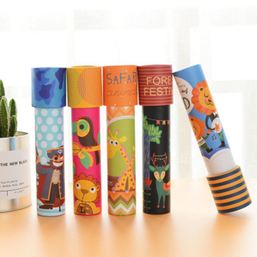 Imaginative Cartoon Animals 3D Kaleidoscope Paper Card Kaleidoscope Colorful World Toys Interactive Toys Kids Gifts 1pcs