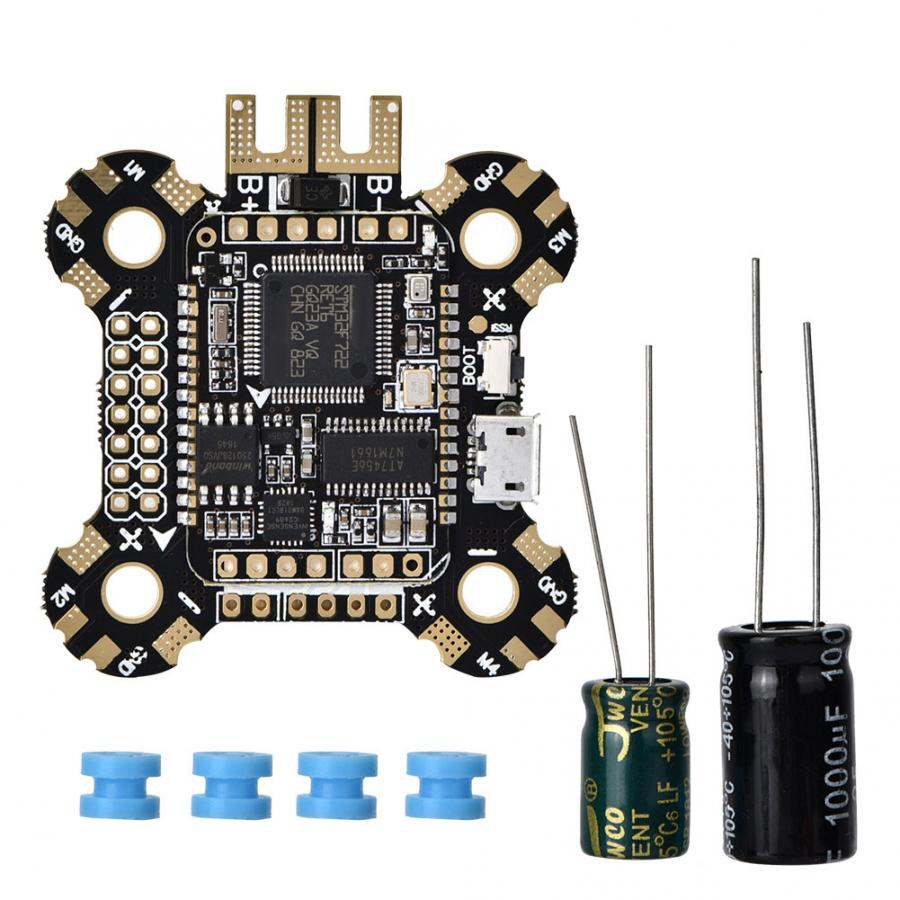 2019 New JHEMCU F722 Flight Control Board 2-6S OSD 5V/2A BEC Current with <font><b>25V</b></font> Capacitor 30x30mm Flight Controller For RC Drone image