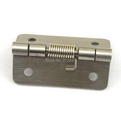 Srebrny Tone ze stali nierdzewnej 60x54x8mm otwarcie wiosna załadowany zawias drzwi w Zawiasy drzwiowe od Majsterkowanie na