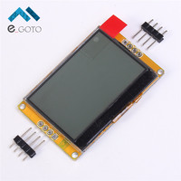 128 * 64 LCD Display Module Panel Screen Amber Gold LED Backlight 128 x64 Shield For Arduino C51 STM32 Smart Electronics