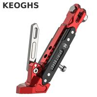 Keoghs Motorcycle Side Foot Frame Side Support Side Stand 500kg Bearing Cnc Aluminum Adjustable For Ducati