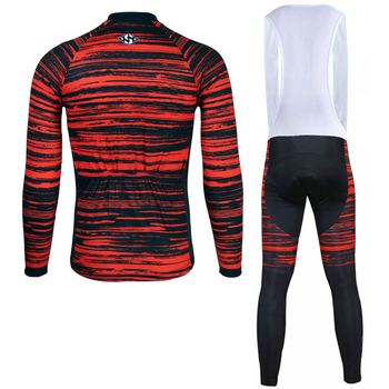 Siilenyond 2019 Winter Thermal Pro Cycling Jersey Sets Keep Warm MTB Bicycle Cycling Clothing Mountain Bike Cycling Clothes Suit 2