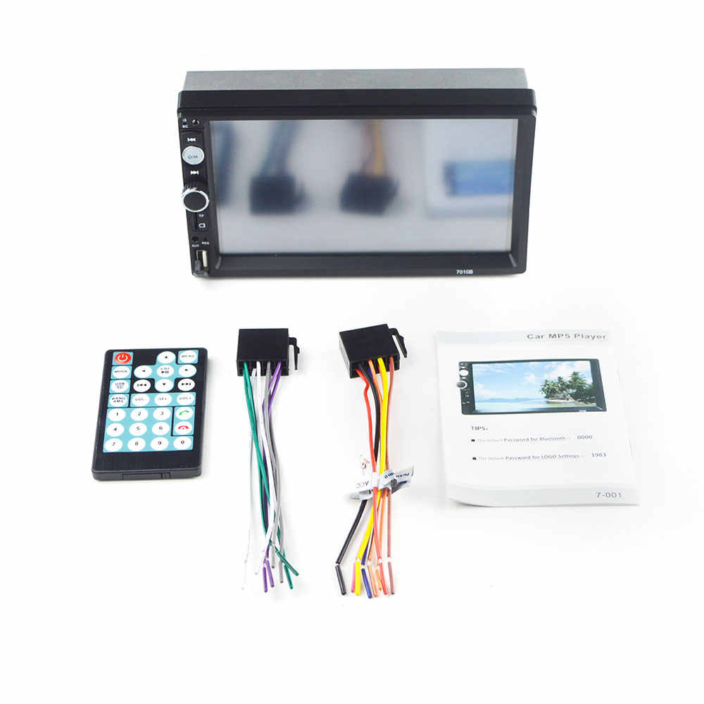 "2 din автомагнитола 7 ""HD Авторадио мультимедийный плеер 2DIN сенсорный экран Авто аудио стерео MP5 Bluetooth USB TF FM камера"