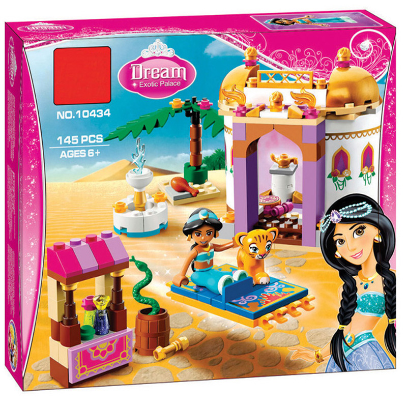 BELA 10434 Jasmine Princess Exotic Palace Building Blocks Toy For Children Gift Compatible LegoINGly Friends 41061 for Girl 2016 new bela building blocks toy set princess jasmine s exotic palace 41061 girl lepine bricks toys compatible with friends