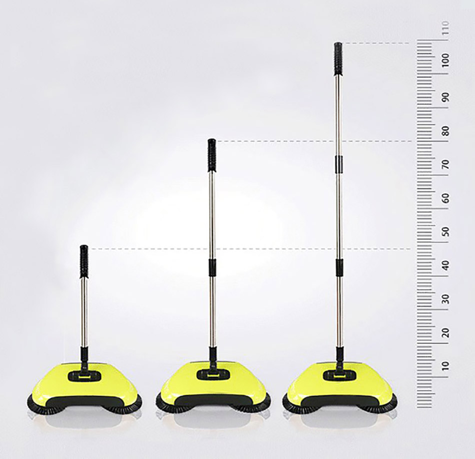 Stainless Sweepers Sweeping Machine Push Type Steel Hand Push Hand Push Magic Broom Sweepers Dustpan Household Cleaning Tools 5