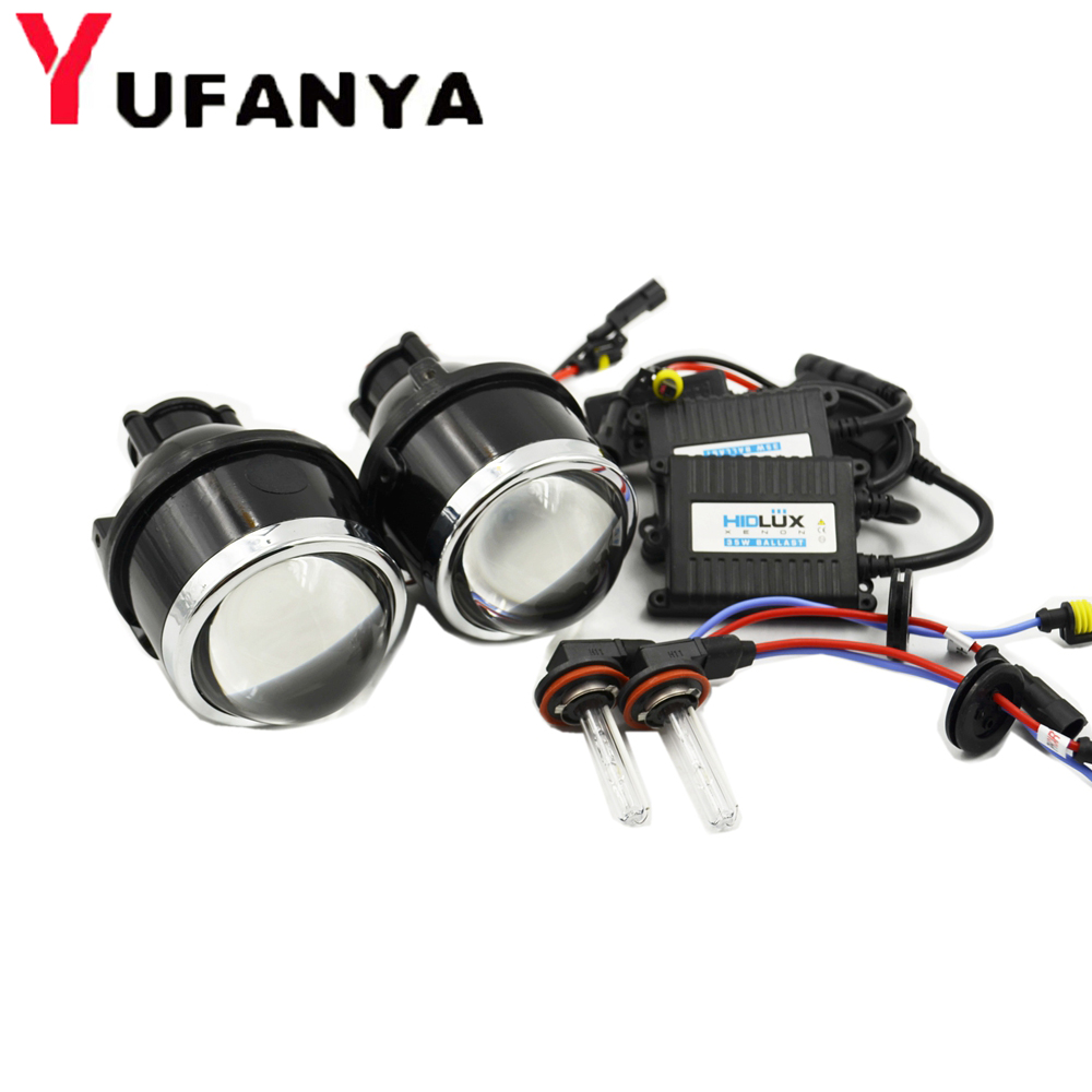 3.0 inch HID halogen Bi xenon fog Projector Lens kit for universal car Lights Lenses Driving Lamp Retrofit H11 xenon bulbs new m803 2 5 car motorcycle universal headlights hid bi xenon projector kit and m803 hid projector lens for free shipping