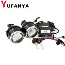 3,0 дюйма HID галогенные би ксенон, противотуманная комплект прожекторных фар для Универсальный Автомобильный огни линзы для вождения усовершенствованная лампа H11 ксеноновые лампы