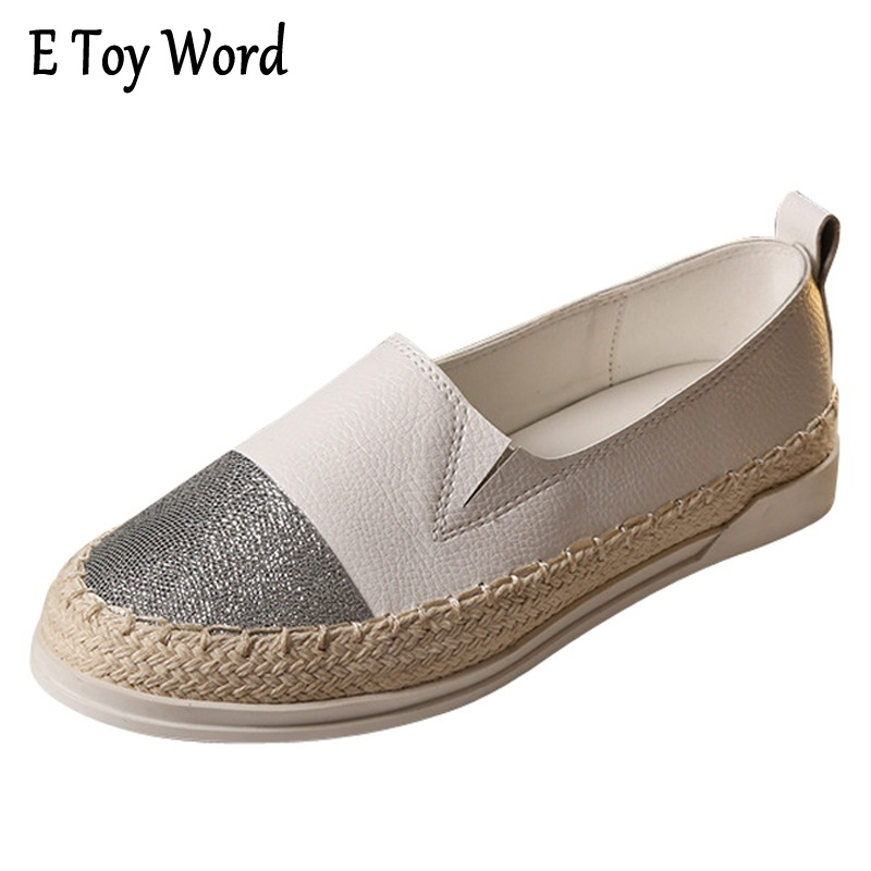 Glitter Loafers 2017 Summer Slip On Flats Fisherman Shoes Woman Casual Spring Women Flat Shoes Plus Size 35-43 gold sliver shoes woman for 2016 new spring glitter bling pointed toe flats women shoes for summer size plus 35 40 xwd1841