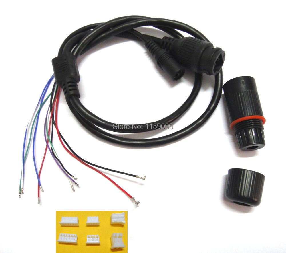100Pcs DC+RJ45 Module Video Power Cable CCTV IP Camera  With Terminals For Another End In Connection To Camera Module