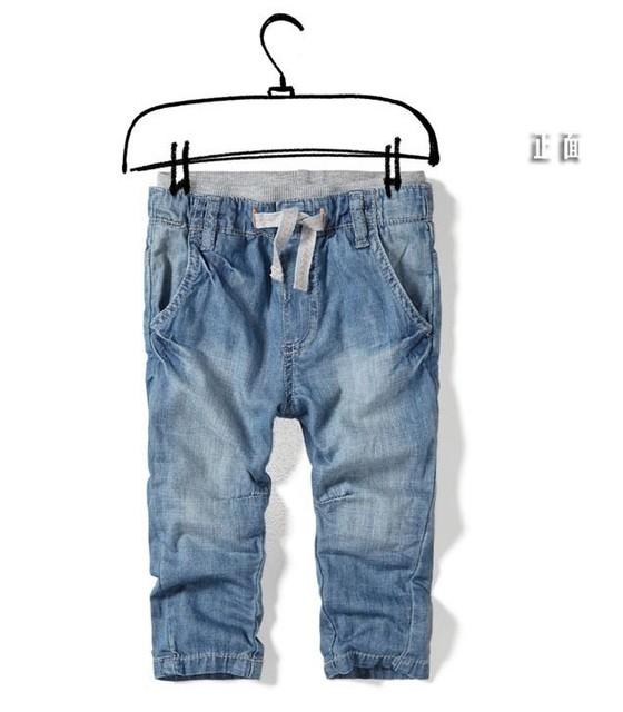Nova chegada calças de brim Das Meninas Dos Meninos Do Bebê Super macio elástico na cintura denim calças roupas de Marca Por Atacado