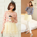 Moda roupas de maternidade outono rendas Floral lactação falso duas mulheres grávidas vestido sz8168