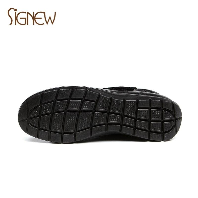 Con Zapatos Viejo Tamaño Cuero Es Planos Botas zapatos Algodón Black No brown Wintergrandma Deslizamiento Suelas Gran La Xinnuo Madre De Suave ZXzxqZ4w1