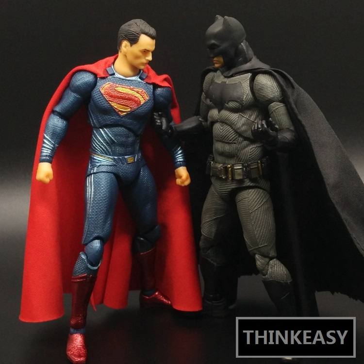 ThinkEasy 6 The Batman vs Superman BVS Dawn of Justice Joker Figure Decoration gift doll Anime For Movie Fans the wangs vs the world