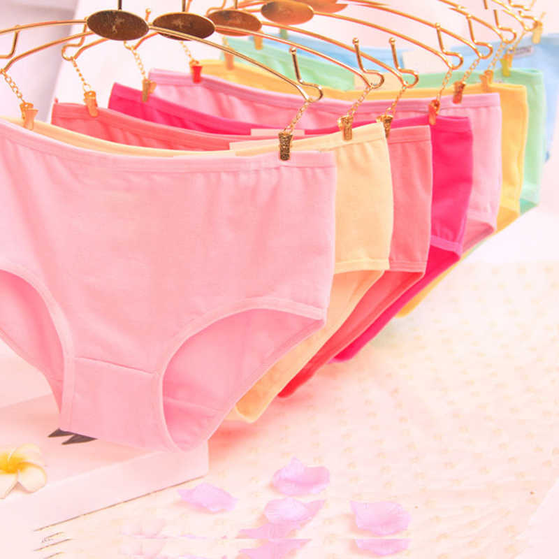 Random Women Underwear For Girls New Soft Panties Teenager Candy Color  Briefs Puberty Lingerie Comfortable Panty