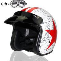 VOSS Motorcycle Helmet Motorcross OpenFace Vintage Helmet For Scooter Crash Helmet Windproof Open Face Harley Helmets