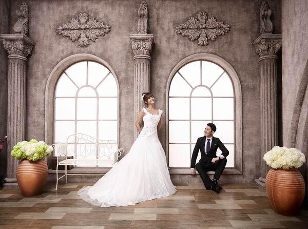 Fotografía de fondo de bodas en el templo retro Fondos de - Cámara y foto - foto 3