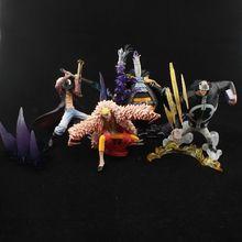 4pcs/lot 13cm One Piece Figure Mihawk+Bartholemew Kuma+Doflamingo Action Figure Cool Style Collectible Model Toys