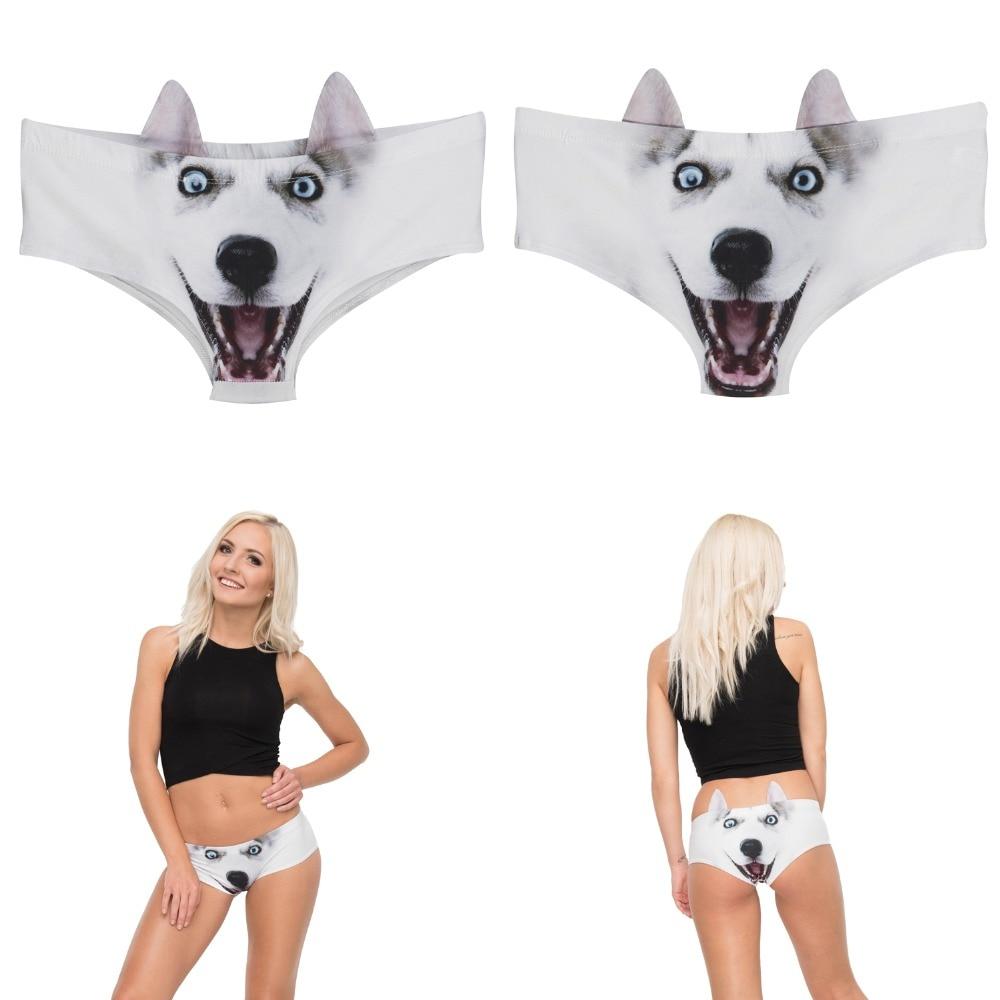 LEIMOLIS pig cat dog fox Animal funny print sexy ear panties female kawaii Lovely underwear push up briefs women lingerie thongs in women 39 s panties from Underwear amp Sleepwears